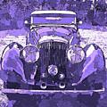 Bentley Blue Violet Pop Art P1 by David King