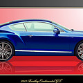Bentley Continental Gt With 3d Badge by Serge Averbukh