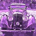 Bentley Red Violet Pop Art P3 by David King