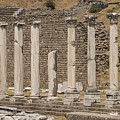 Bergama Colonnade Ruins by Bob Phillips