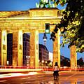Berlin - Brandenburg Gate At Night by Alexander Voss