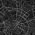 Berlin Germany Dark Map by Jurq Studio