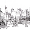 Berlin Medley Monochrome by Callan Art