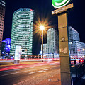 Berlin - Potsdamer Platz Square At Night by Alexander Voss
