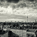 Berlin Skyline And Roofscape -black And White by Alexander Voss