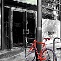 Berlin Street View With Red Bike by Ben and Raisa Gertsberg