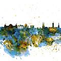 Berlin Watercolor Skyline by Marian Voicu