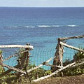 Bermuda Fence And Ocean Overlook by Heather Kirk