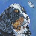 Bernese Mountain Dog Pup by Lee Ann Shepard