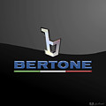 Bertone - 3 D Badge On Black by Serge Averbukh
