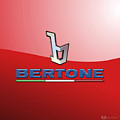 Bertone 3 D Badge On Red by Serge Averbukh