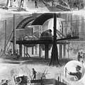 Bessemer Steel Manufacture. Six by Everett