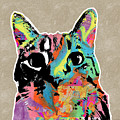 Best Listener Kitty- Pop Art By Linda Woods by Linda Woods