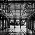 Bethesda Terrace Arcade 2 - Bw by James Aiken