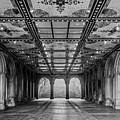 Bethesda Terrace Arcade 3 - Bw by James Aiken