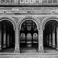 Bethesda Terrace Arcade 4 - Bw by James Aiken