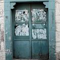 Bethlehem - Blue Door by Munir Alawi