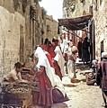Bethlehem Market 1900 by Munir Alawi
