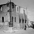 Bethlehem Police Barracks Burned Down On 1938 by Munir Alawi