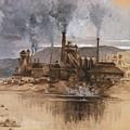 Bethlehem Steel Works In May 1881 by Everett