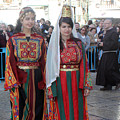 Bethlehemites In Traditional Dress by Munir Alawi