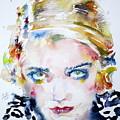 Bette Davis - Watercolor Portrait by Fabrizio Cassetta