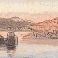 Between Kalabshee And Tafa by Edward Lear