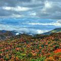 Between The Clouds Blue Ridge Parkway North Carolina Art by Reid Callaway