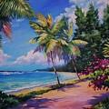 Between The Palms 20x16 by John Clark