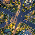 Beverly Hills Streets, Aerial View by Konstantin Sutyagin