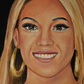Beyonce Celebrity Painting by Dyanne Parker