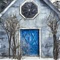 Beyond The Blue Door Pencil by Edward Fielding
