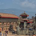 Bhaktapur Durbar Square In Kathmandu Valley, Nepal by Ivan Batinic