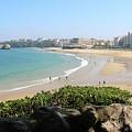 Biarritz Beach Panorama by Carol Groenen