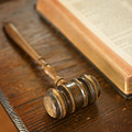 Bible And Gavel by Donald  Erickson