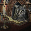 Bibliocat Reads To His Friends by Marguerite Anderson