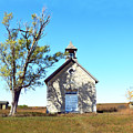Bichet School In Autumn by Catherine Sherman