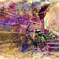 Bicycle Abandoned In India Rajasthan Blue City 1a by Sue Jacobi