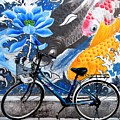 Bicycle Against Mural by Joe Bonita
