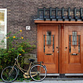 Bicycle And Wooden Door by Thomas Marchessault