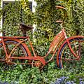 Bicycle In The Garden by Debra and Dave Vanderlaan