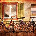 Bicycle Line-up by Debra and Dave Vanderlaan