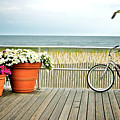 Bicycle On The Ocean City New Jersey Boardwalk. by Melissa Ross