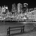 Bicycle On The Plein At Night - The Hague  by Barry O Carroll