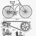 Bicycle Patent 1890 by Bill Cannon