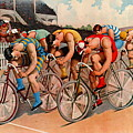 Bicycle Race 1895 by Padre Art