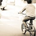 Bicycle Rider by Emmanuel  Sanni