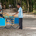 Bicycle Taxi Inside The Coba Ruins  by Carol Ailles