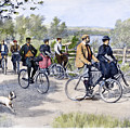 Bicycle Tourists, 1896 by Granger