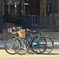 Bicycles On Main Street by James Keller